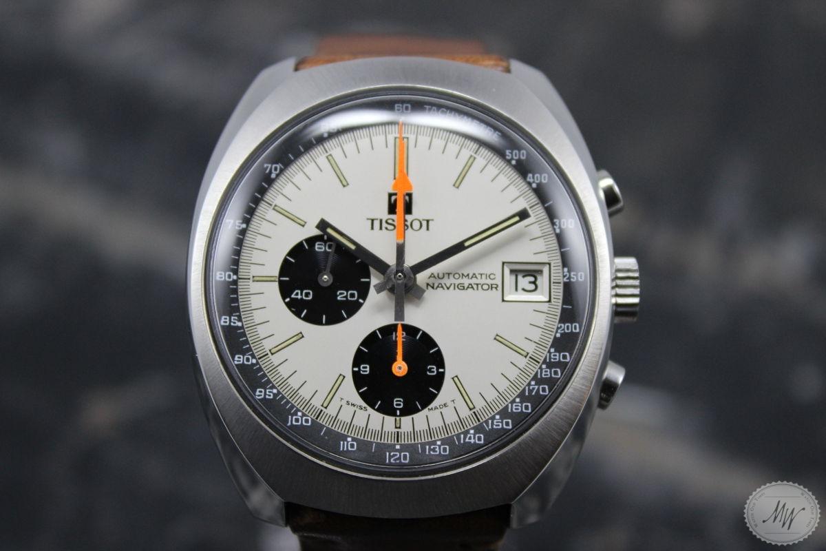 -VERKAUFT- TISSOT Navigator Chronograph mit Lemania Kal ...